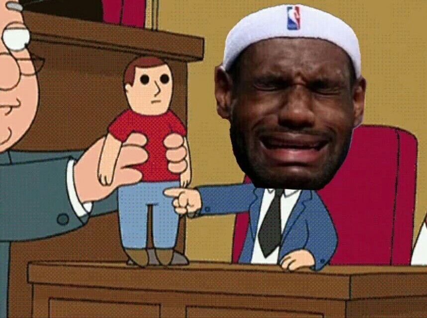 So Lebron can you show us where Drayon touch you - meme