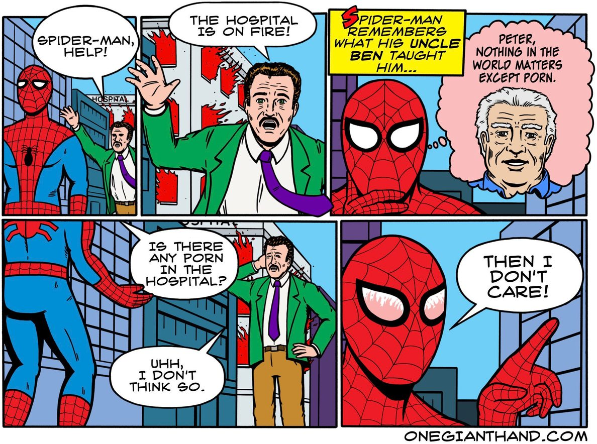Vintage spider man was so good - meme