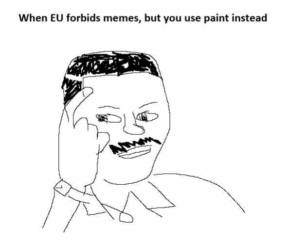 Against the EU forbidding memes