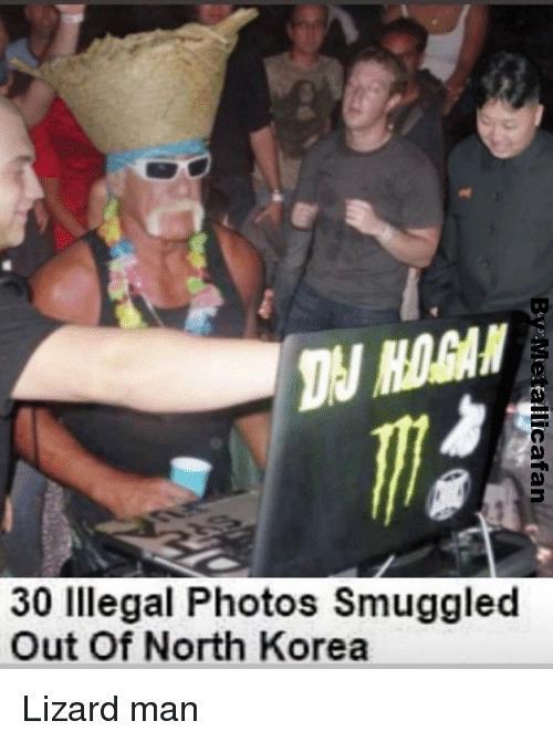 Lizard Man, Fat boy and DJ hogan - meme