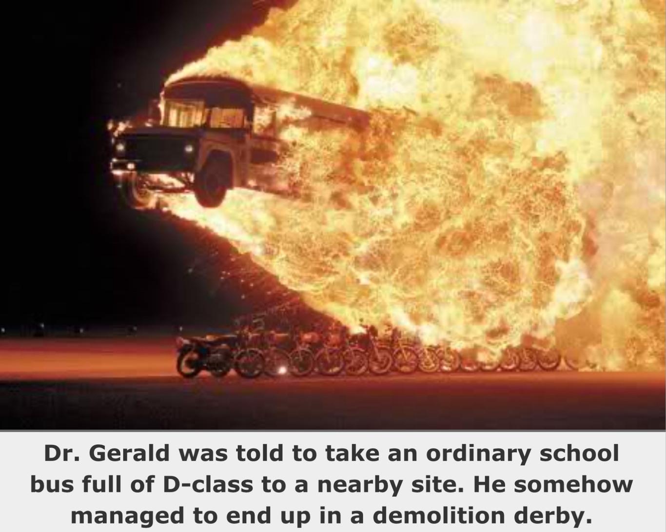 SCP-666-J: Dr. Gerald's Driving Skills - meme