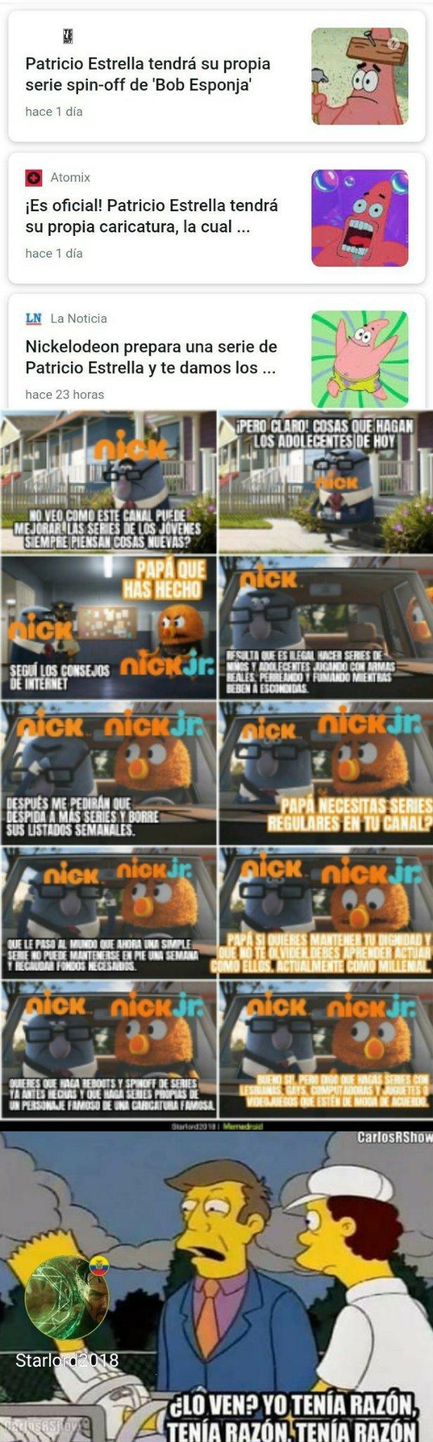 NICK, siempre buscando la manera de ganar dinero y que no lo olviden - meme