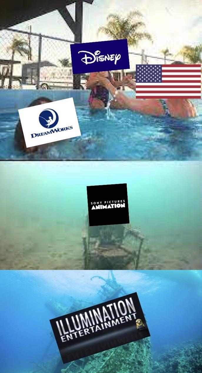 Estados Unidos ama más a Disney - meme