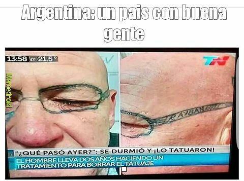 Solo en Argentina - meme