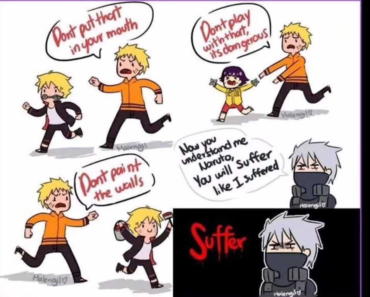 "Naruto ""Suffer!"" - meme"