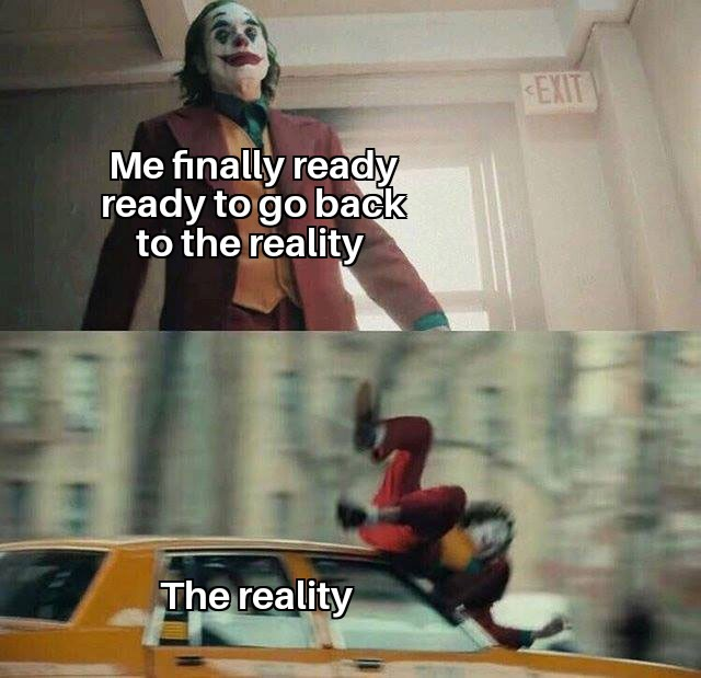 reality is often disappointing - meme
