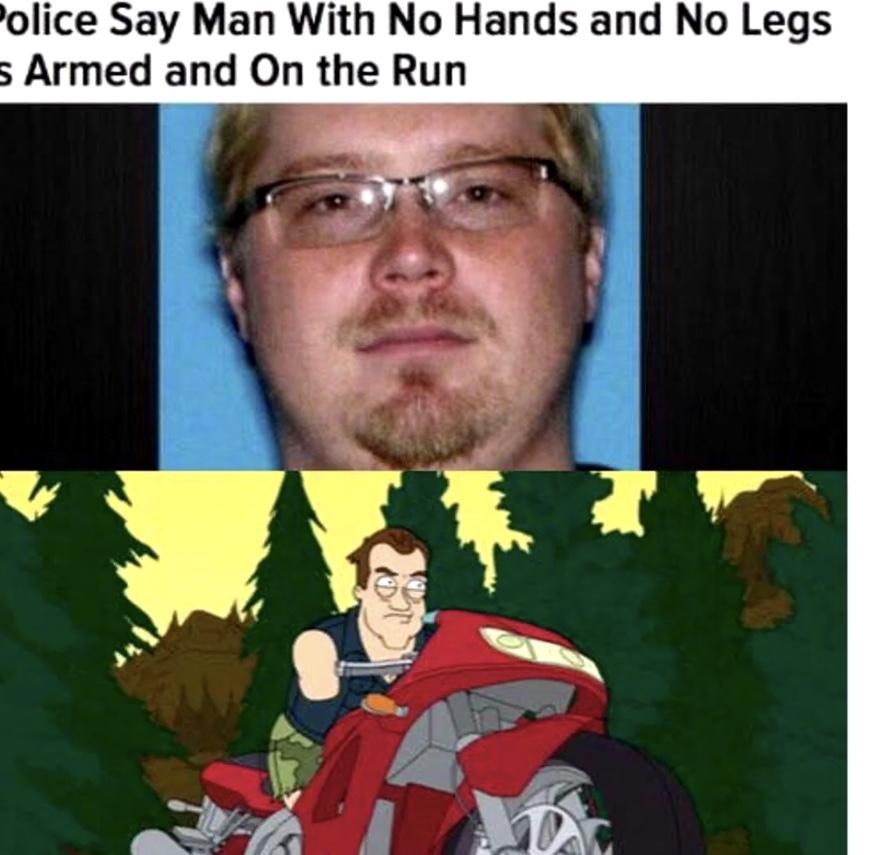 No arms or legs - meme