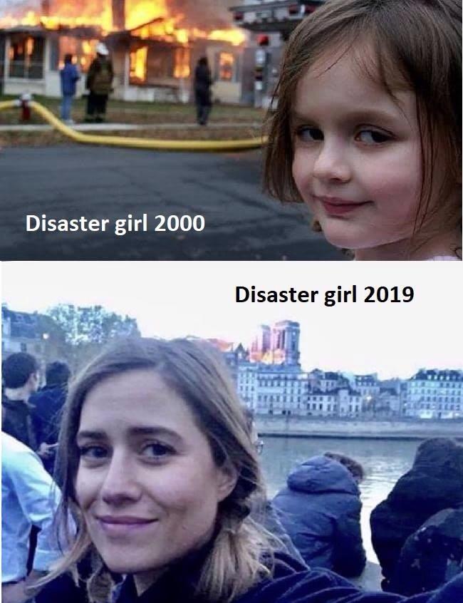 o garota desastrada - meme