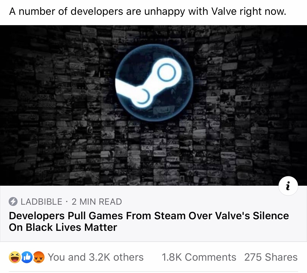 massive Respect to steam for not virtue signaling - meme