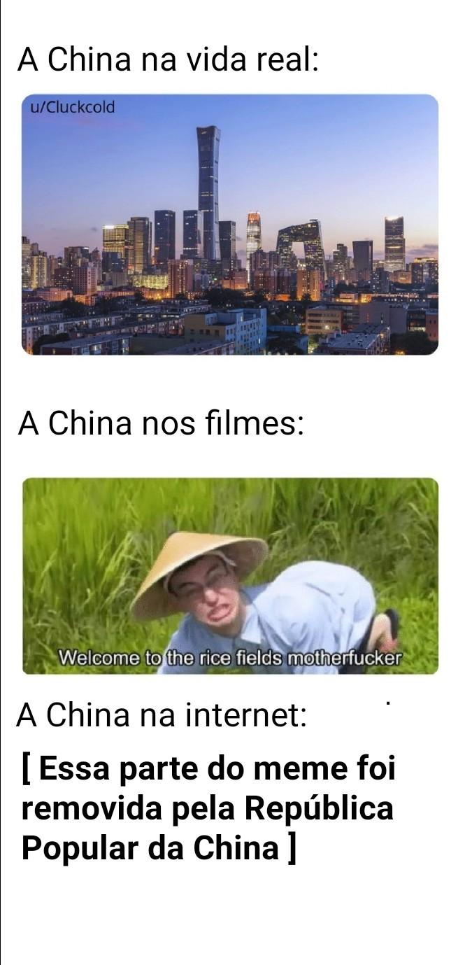 Cambada de chinês arrombado - meme