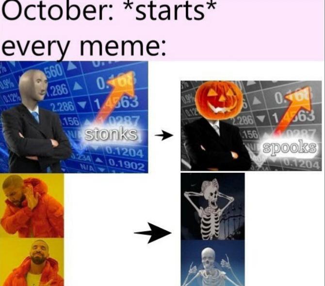 Pretemporada de hallowen - meme