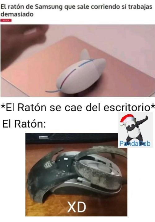 NOOOO pinche ratón Samsung - meme