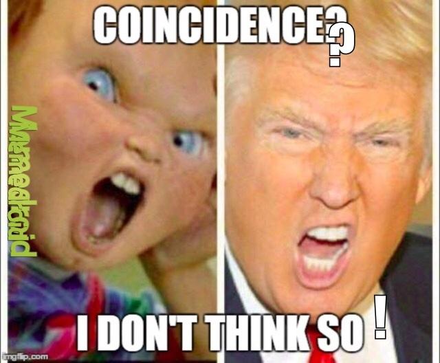Trump vs Chucky qui gagne ? - meme