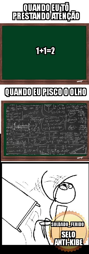 Aula de matemática - meme