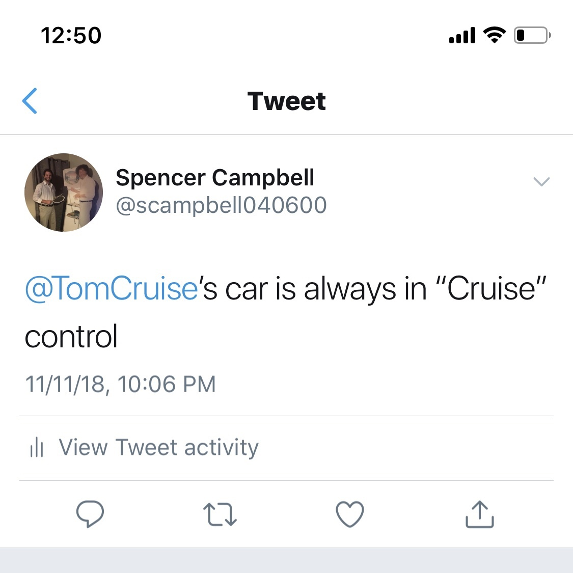 Tom Cruise please reply - meme