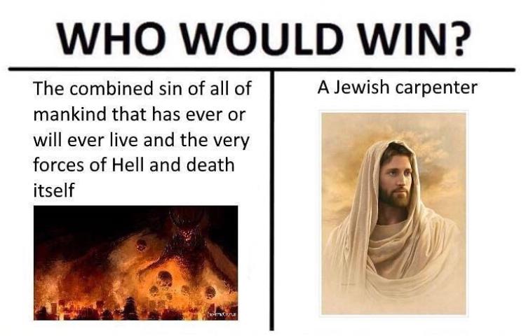 Christianity in a nutshell - meme