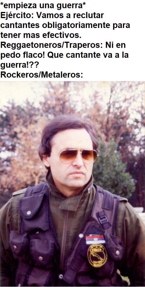 Aguante el Rock y el Metal! - meme