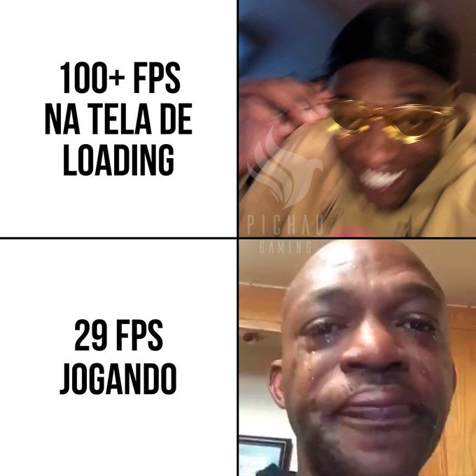 Abrindo o jogo pela primeira vez - meme
