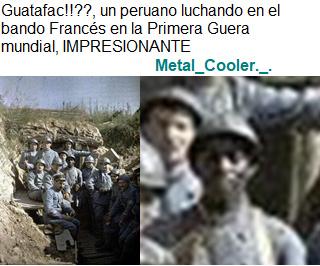 En el canal History próximamente, los peruanos de la Gran Guerra - meme