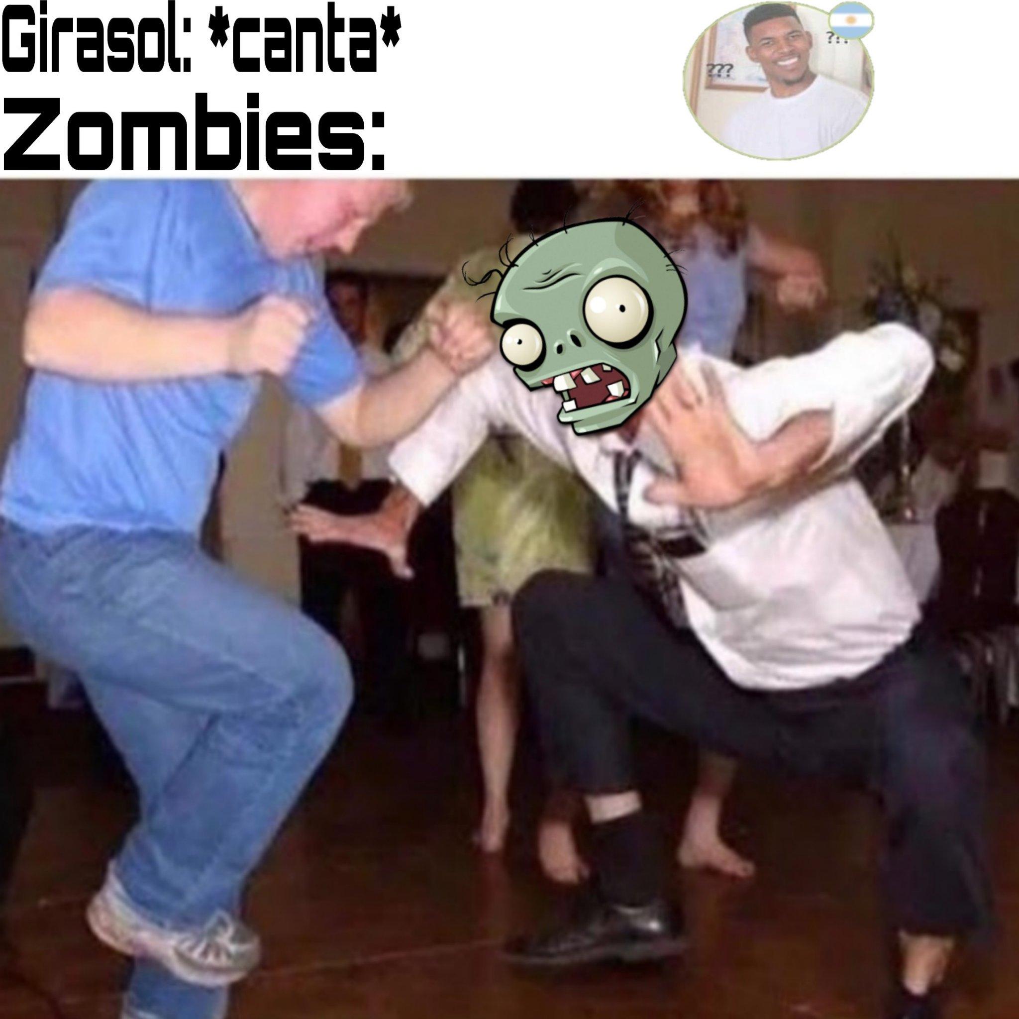 A zombie in my lown - meme
