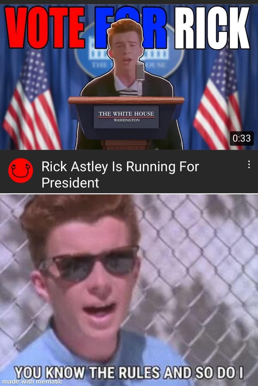rick for president - meme