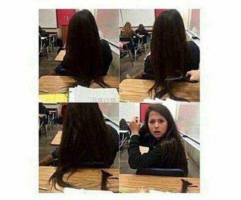 Quita tu cabello de mi escritorio pendeja >:v - meme