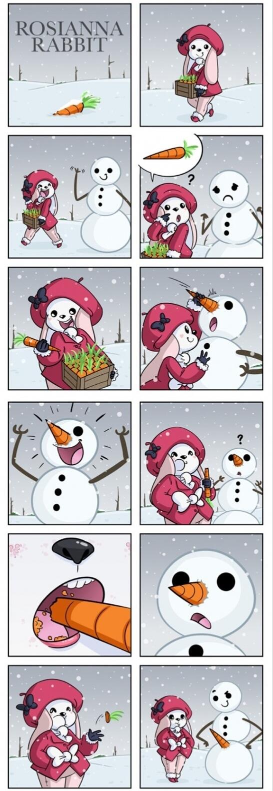 Muñeco de nieve listo - meme