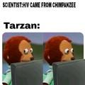 claped chimpanzees cheeks