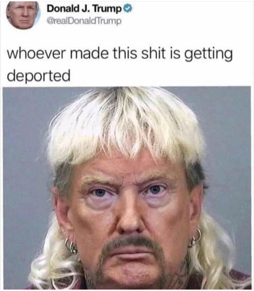 Trump looking good - meme