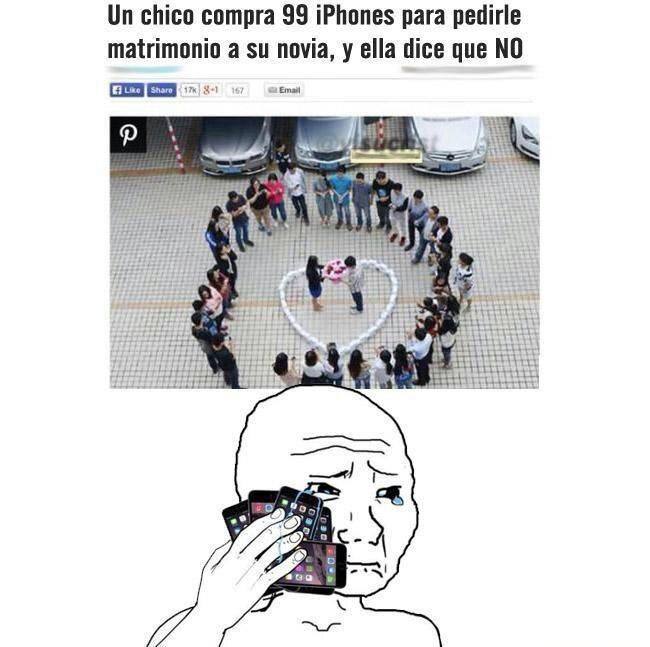 Los chistes mas buenos tendrán iphone :D - meme