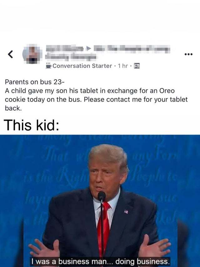 A business kid - meme