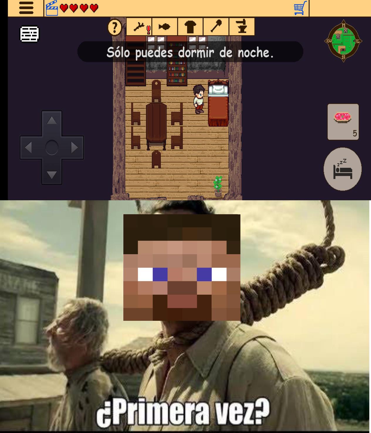 El juego se llama rpg survival ruins,de hecho es una trilogía - meme