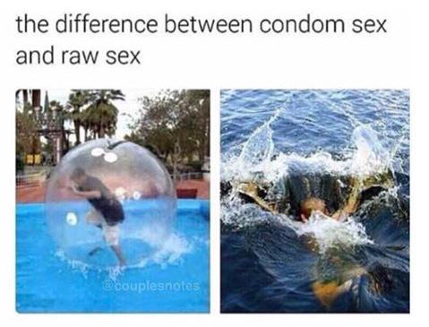 Sexe avec protection/sans protection (͡° ͜ʖ ͡°) - meme