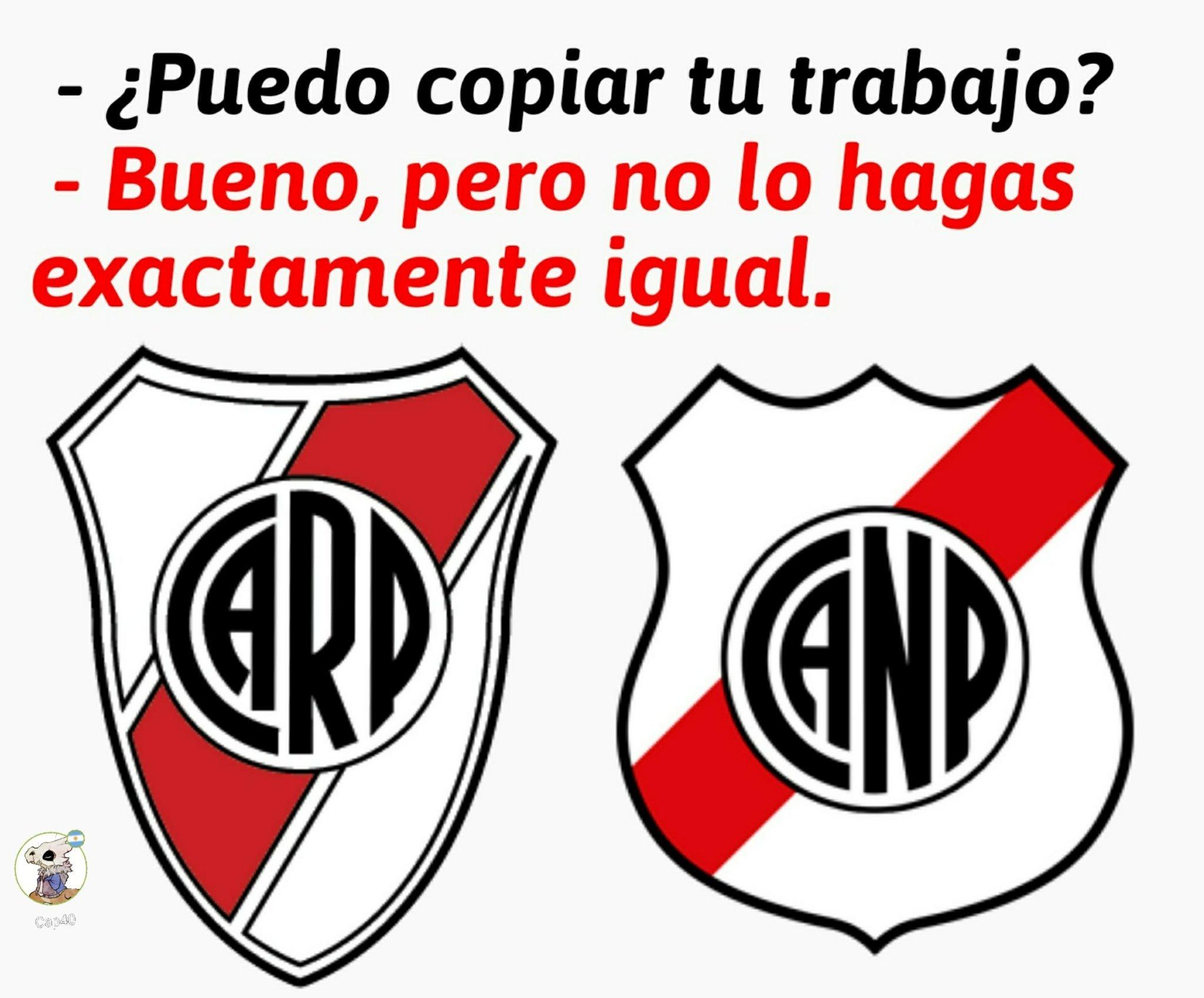 El de la izquierda es River Plate (Argentina) y el de la derecha es Nacional Potosí (Bolivia) - meme