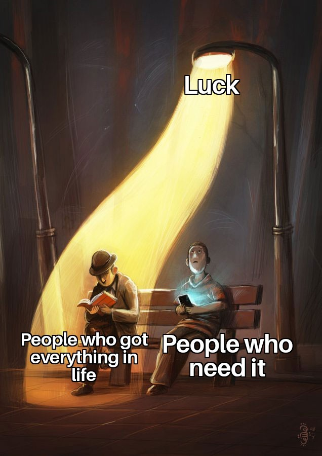 Streetlight luck meme