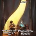 Streetlight luck meme