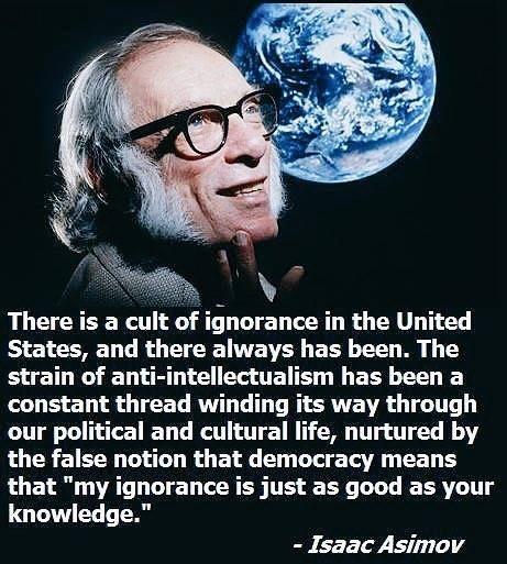 cult of ignorance - meme