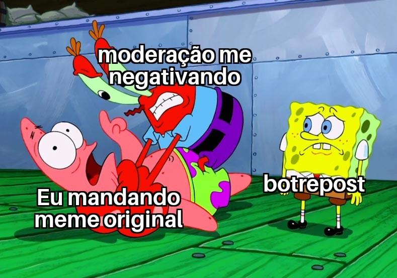 Po moderação - meme