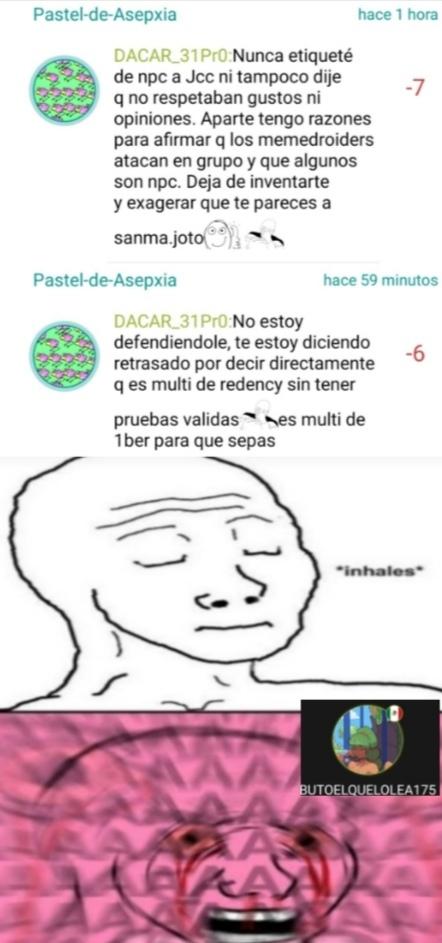 Otra vez Pastel-de-asepsia cometiendo pendejadas :facepalm: - meme