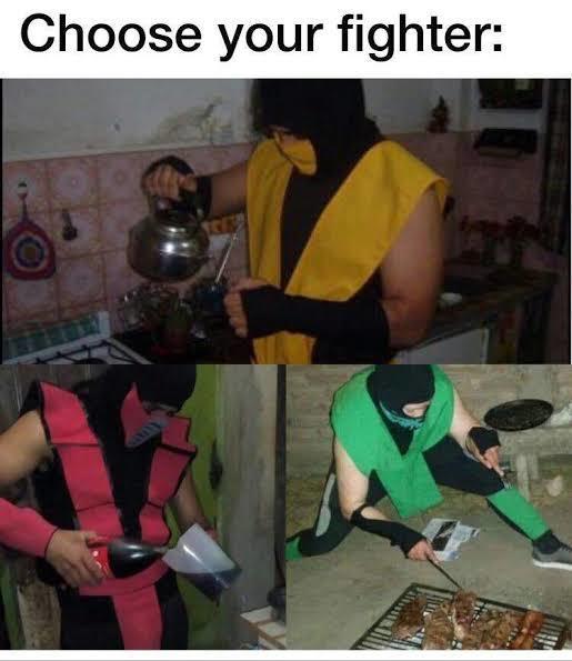 Elije yo agarro a scorpion xd - meme