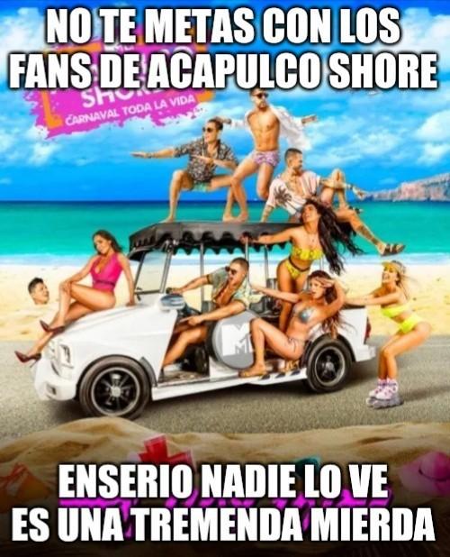 Acapulco Shore = Acapulco Shit - meme