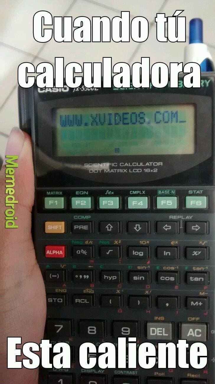 La calculadora pervertida - meme