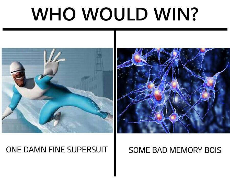 It's gotta be the suit - meme