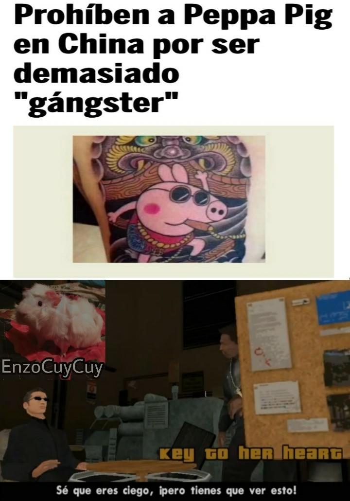 Joder, eso sí es de gángsters - meme