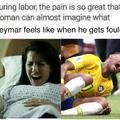 Neymar pretending to be hurt, again.