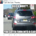 turn into da car morty