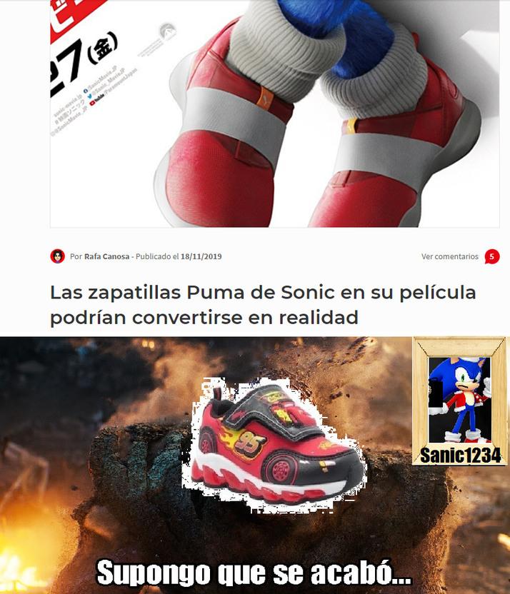Para el que no entienda:Las zapatillas le dan velocidad a sonic - meme