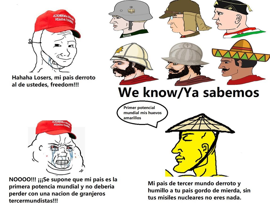 Todos somos Chads menos los gringos - meme