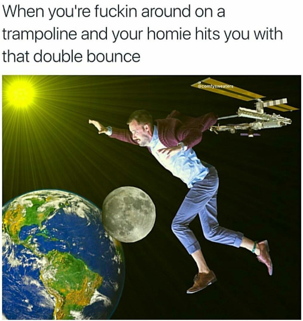 Double bouncy bitch - meme