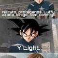 (Goku mal pegado)